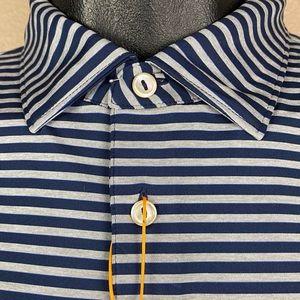 Peter Millar Stretch Golf Polo Shirt XL Navy